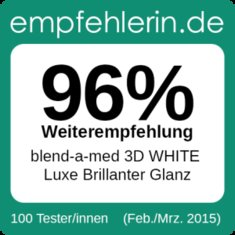 blend-a-med 3D WHITE Luxe Brillanter Glanz - Ergebnisse